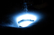 Andee Photography - Blue Snow Flood Light Steam