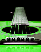 Andee Photography - Neon Green Guitar 18